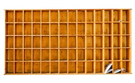Classic wooden mail box on the white wall of modern apartment. Stock Photo - 9183059