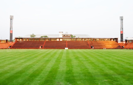 Small football stadium in under construction located on Bangkok,Thailand Stock Photo - 9461288