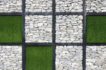 Modern art wall of international garden exhibition in Thailand. photo