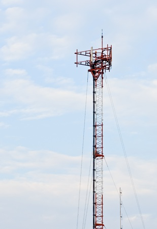 Phone antenna pole on the base phone station. Stock Photo - 9659103