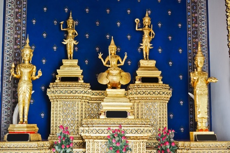Five angel idol in the temple of Bangkok city pillar,Thailand Stock Photo - 9917195