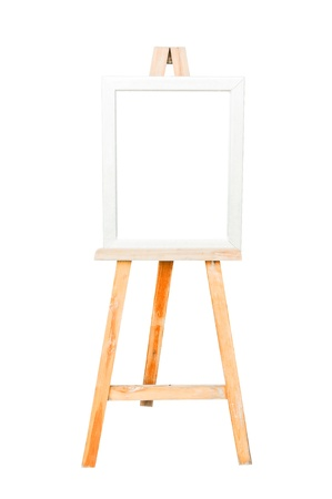 Classic wooden board on the white background. photo