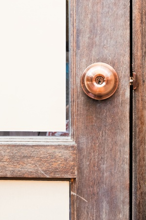 Bronze door knob to the privacy room. photo