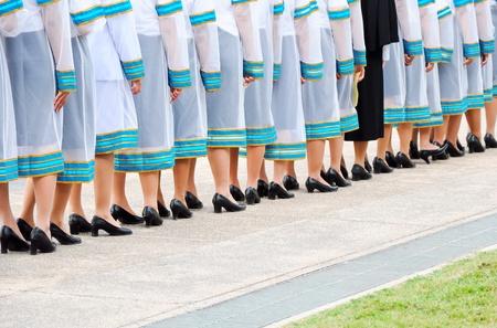 ์New generation of Thai graduates are waiting in line to get a degree photo