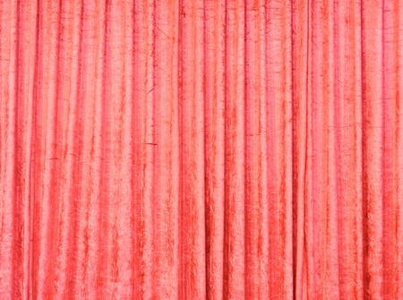 Red velvet curtain on the grand stage. photo