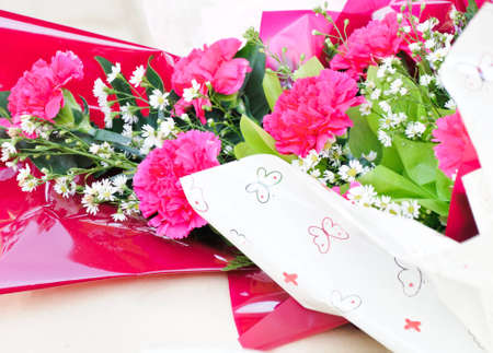 Bouquet of carnations for graduation Day photo