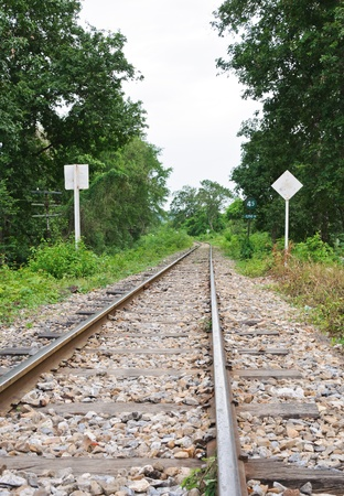 Old railway in the western line of Thailand  photo