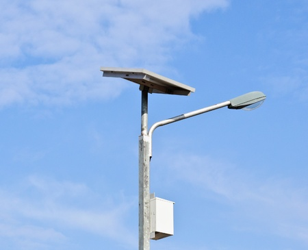 Solar cell lamp on the island of Thailand Stock Photo - 13090829