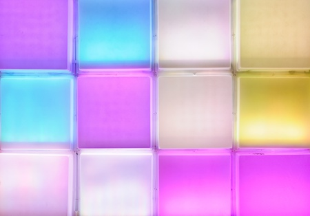 Colorful light wall of the exhibition pavilion  photo