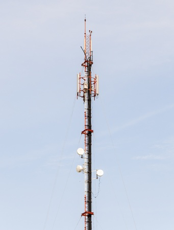 Phone antenna tower of the base phone station Stock Photo - 13444287