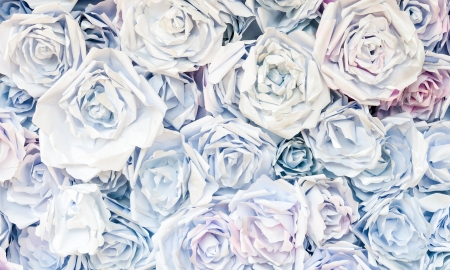 Paper rose background for decorate the wedding ceremony