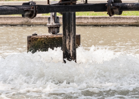 water turbine: Metal water turbine for waste water treatment in the factory