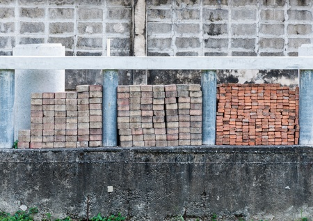 constrution site: Brick block on the constrution site of factory  Stock Photo