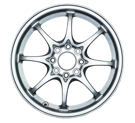 Modern alloy wheel on the white background   photo