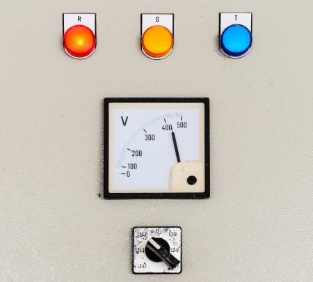Electrical control panel for water pump in the industry plant  Stok Fotoğraf