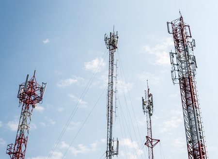 telco: Telecommunication tower on the high mountain in Thailand
