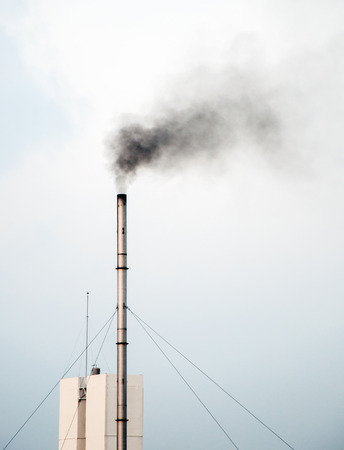 smokestacks: Emissions from the old smokestacks of industrial plants