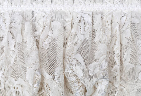 White lace of dining table in the wedding  photo