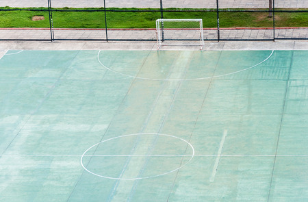 Urban football field in the city of Thailand  photo