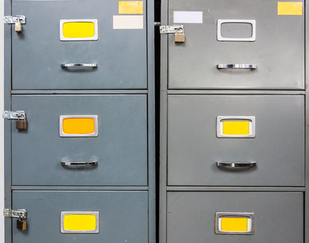 office cabinet: Steel filing cabinet for privacy data in the office