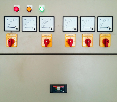 Electrical control panel of water pump in the industry plant.