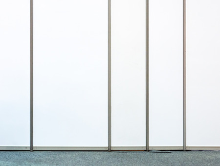 partition: White partition in the small office. Stock Photo