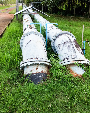 filtration: Large water pipe  from reservoir to water filtration.
