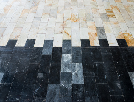 duo tone: Duo tone marble tile of the house floor.