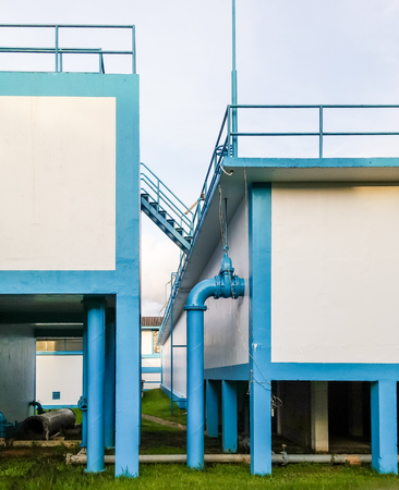 waterworks: Water filtration plant in the rural waterworks of Thailand.