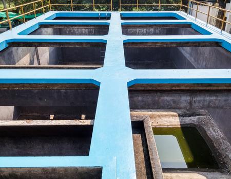 filtration: Vac�o de la planta de filtraci�n de agua para el tiempo de mantenimiento en la oficina de abastecimiento de agua.