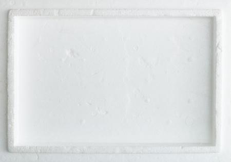 White foam board of the box cover for store the food in the market.