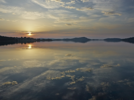 Morning on the island Zut, Kornati, croatia  Stock Photo