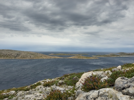 kornat: Cloudy and windy morning on island of Kornat, Opat place