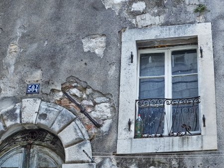 Window of old house in Kotor Montenegro      photo