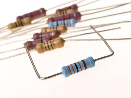 resistors: Resistors macro isolated on white