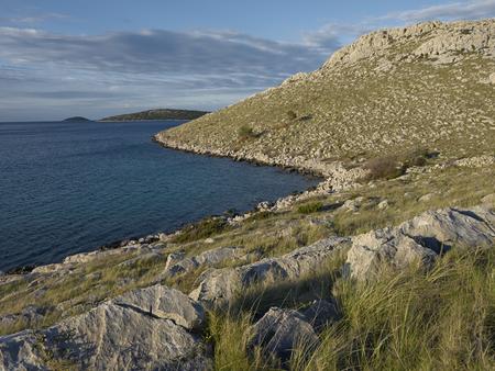kornat: Morning light on island of Katina, Kornat