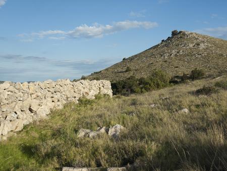 kornat: wall of stones on the Islands af Kornat, Adriatic sea, Croatia