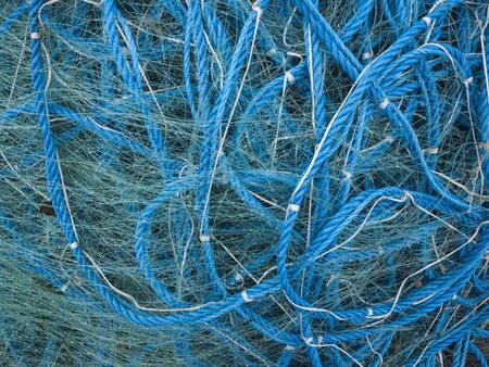 muddle: Tangled fishing net