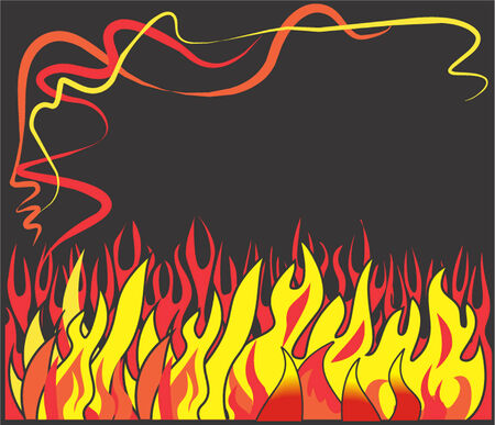 stove top: Red, yellow flames on black background