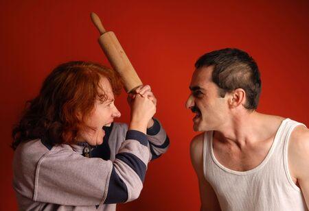 fracas: family row and  negative emotions burst