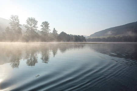 Lake Myczkowce is an artificial lake in the Bieszczady Mountains region in Poland.