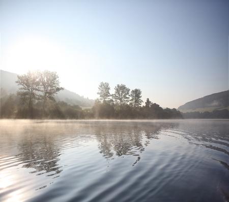 Myczkowce is an artificial lake in the Bieszczady Mountains region in Poland. Stock Photo