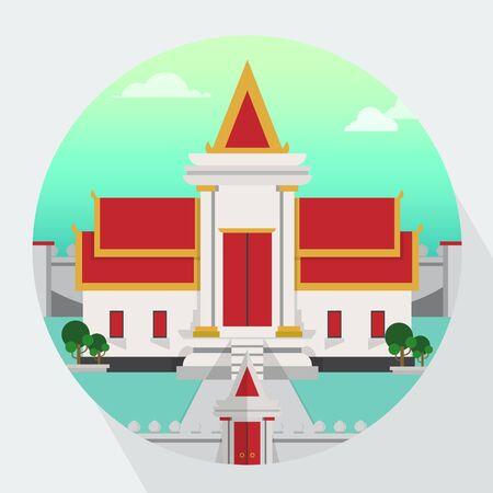thai temple: Thai Temple Vector Illustration Illustration
