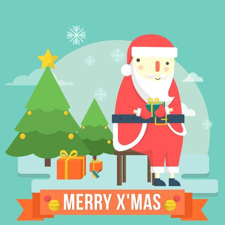 clause: Santa Clause Cute Christmas Illustration Illustration