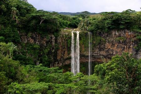 Tamarind waterfalls of the Saint Denis river  Stock Photo