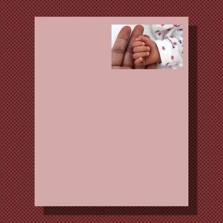 writing paper: Writing paper with marsala knitted background and pink paper with picture for mother Stock Photo