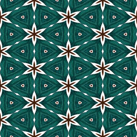 Abstract green texture or background with red stars with Christmas look made seamless photo
