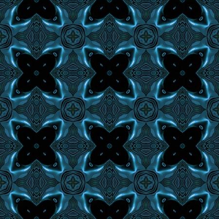 Abstracte blauwe metallic textuur met viking zoals symbolen die naadloos zijn gemaakt