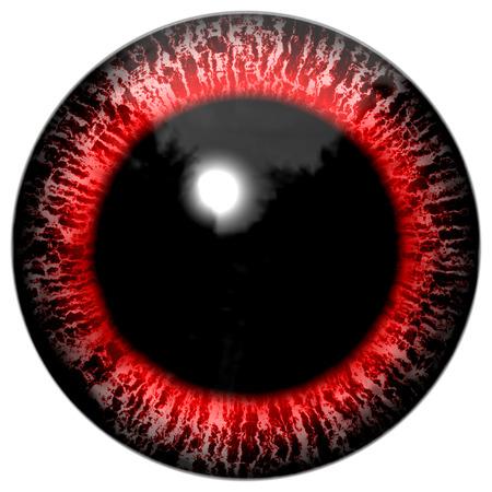 Red bloody alien or bird eye Stock Photo