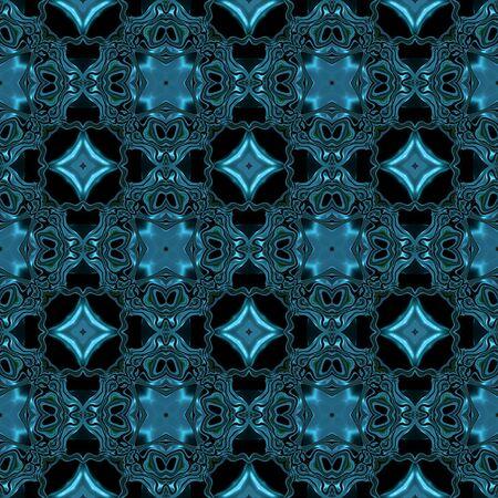 Abstracte metallic blauwe viking of keltische achtig patroon gemaakt naadloze